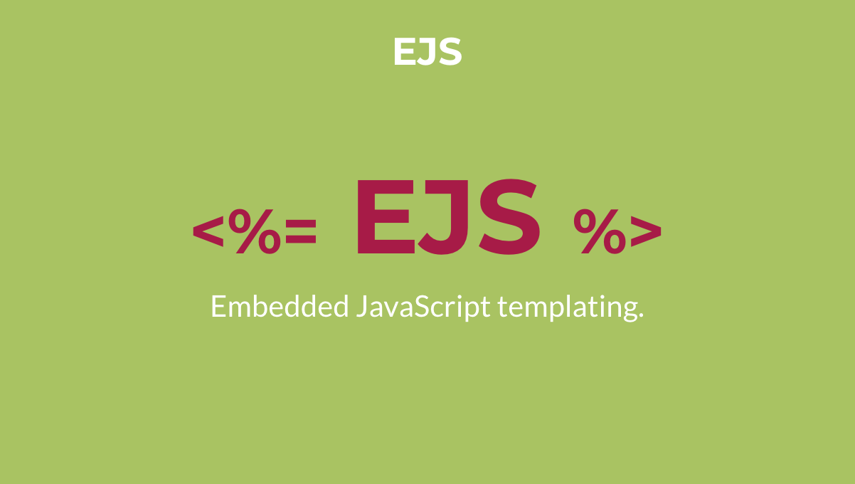 Overview of EJS templating engine